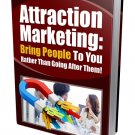 Attraction Marketing to Bring People To You | E-Book Download