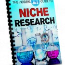The Insiders Guide To Niche Research | LIMITED | PDF Download (+ Resell Rights)