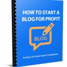 How To Start a Blog For Profit | E-Book Download