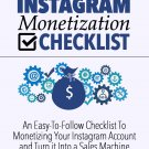 Instagram Monetization Checklist | LIMITED | PDF Download (+ Resell Rights)