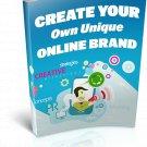 Create Your Own Unique Online Brand | E-Book Download