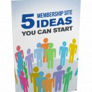 5 Membership Site Ideas You Can Start | E-Book Download