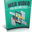 Web Video For Businesses | E-Book Download