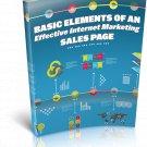 Basic Elements Of An Effective Internet Marketing SalesPage | E-Book Download