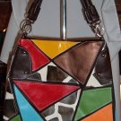 Giraffe Mulit Color Patch Designer Inspired Large 2 way hobo Tote