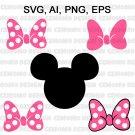 Minnie Mouse SVG / Minnie mouse head SVG / Minnie Mouse Bow SVG / Minnie Mouse Cut File