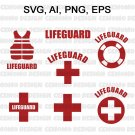 Lifeguard SVG Bundle   Life Guard Svg Files for Cricut   Red Cross SVG