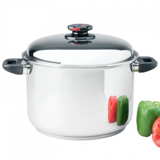 STEAM CONTROL 12QT 9 ELEMENT 304 SURGICAL STAINLESS STEEL STOCK POT 3GAL