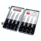 SLITZER 8PC PRO GERMAN STYLE JUMBO STEAK KNIVES W/HALF-SERRATED FULL TANG BLADES