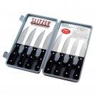 SLITZER 8PC PRO GERMAN STYLE JUMBO STEAK KNIVES W/HALF-SERRATED FULL TANG BLADES