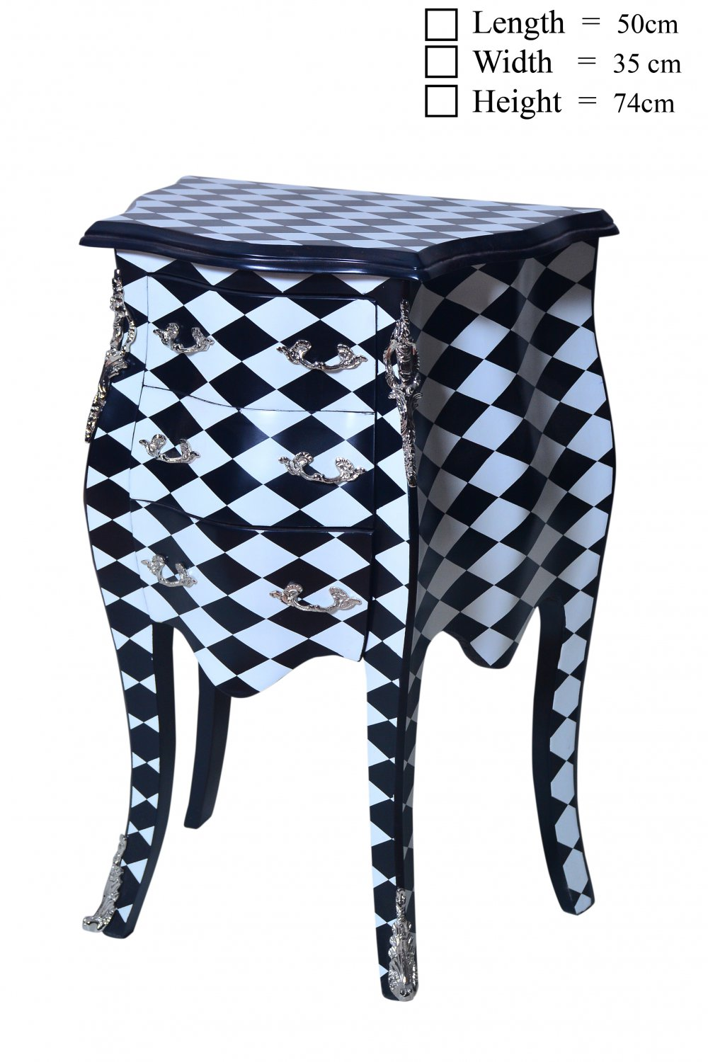 Checkered Table Checkered Commode