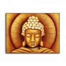 Sun Buddha Painting - Golden