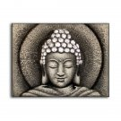 Sun Buddha Painting - Silver