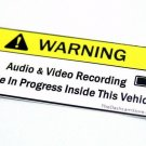 4-Pack Dash Cam Video Audio Recording Warning Sticker Car Onboard Camera Decal