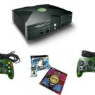 "XBOX ""Fun"" BUNDLE: Xbox Console, 2 Controllers, Dance Pad and Pump It Up Game"
