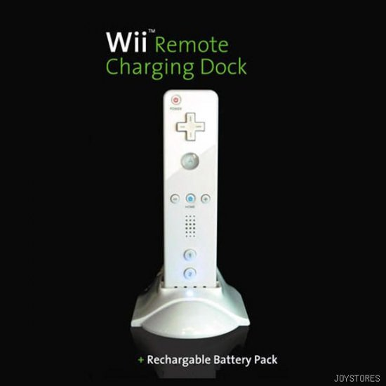 NINTENDO WII REMOTE CONTROL PU CHARGING DOCK + BATTERY