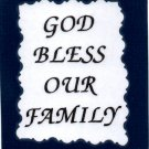 "Love Notes 3"" x 4"" Inspirational Saying 1001 God Bless Our Family"