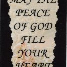 """Love Notes 3"""" x 4"""" Inspirational Saying 1004 May The Peace Of God Fill Your Heart"""