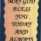 "Love Notes 3"" x 4"" Inspirational Saying 1021 May God Bless You Today And Always"