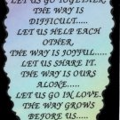 """The Way Is Long Let Us Go Together  1091 Love Notes 3"""" x 4"""" Inspirational Saying"""
