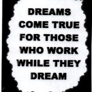 """Dreams Come True For Those Who Work While 1094 Love Notes 3"""" x 4"""" Inspirational Saying"""