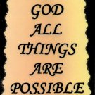 1002 With God All Things Are Possible Sign Plaque Inspirational Saying  Great Gifts