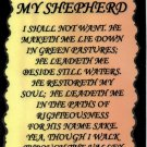 1028 The Lord is my Shepherd Inspirational Sayings Signs Plaques Christian Gifts