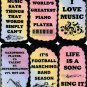 5115 Music is the sound of life Inspirational Musician Gifts Signs Plaques