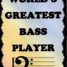 5032 Bass Player Band Rock Country Jazz Music Saying Signs Plaques Musician Gifts