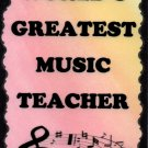 5034 World's Greatest Music Teacher Gift Instruments Band Choir Signs Plaques