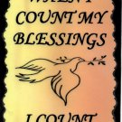 1020 When I count my blessings first Inspirational Saying Signs Plaques Friendship Gifts