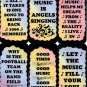 5044 Old musicians never die from bar to bar Music Sayings Signs Plaques Gifts