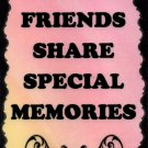 2054 Special Friends Share Special Memories Saying Sign Plaque Friendship Gift