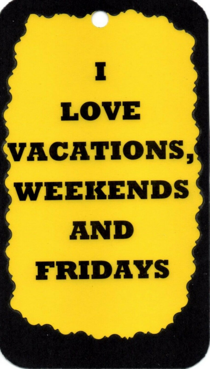 3012 I Love Vacations, Weekends And Fridays Funny Comic Saying Signs Plaques Great Gifts