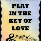 5043 Musicians play in the key of love Music Signs Plaques Band Orchestra Jazz