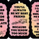 3 Friendship Signs Sayings Plaques #2 Gifts Inspirational Friends Funny Comic Blessings