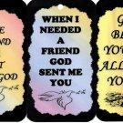 3 Friendship Signs Sayings Set #1 Plaques Gifts Inspirational Friends Christian