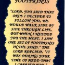 1011 Refrigerator Magnet Signs Footprints Inspirational Gift Christian Religious