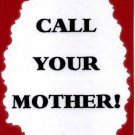 3187 Humorous Refrigerator Magnet Signs Call Your Mother Family Gifts