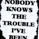 3089 Humorous Refrigerator Magnet Signs Nobody Knows The Trouble I've Been