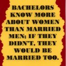 3289 Humorous Refrigerator Magnet Sign Bachelors Know More About Women Married