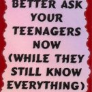 3043 Humorous Refrigerator Magnet Signs Better Ask Your Teenagers Now While They