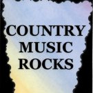 5079 Refrigerator Magnet Sign Country Music Rocks Band Western Song Rhythm