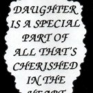 2024 Refrigerator Magnet Signs A daughter is a special part Inspirational Family
