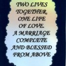 1103 Magnet Signs Of Life, Love Laughter Two lives together A marriage complete