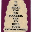 3103 Refrigerator Magnet Sign Funny Friendship Gift If At First You Do Succeed