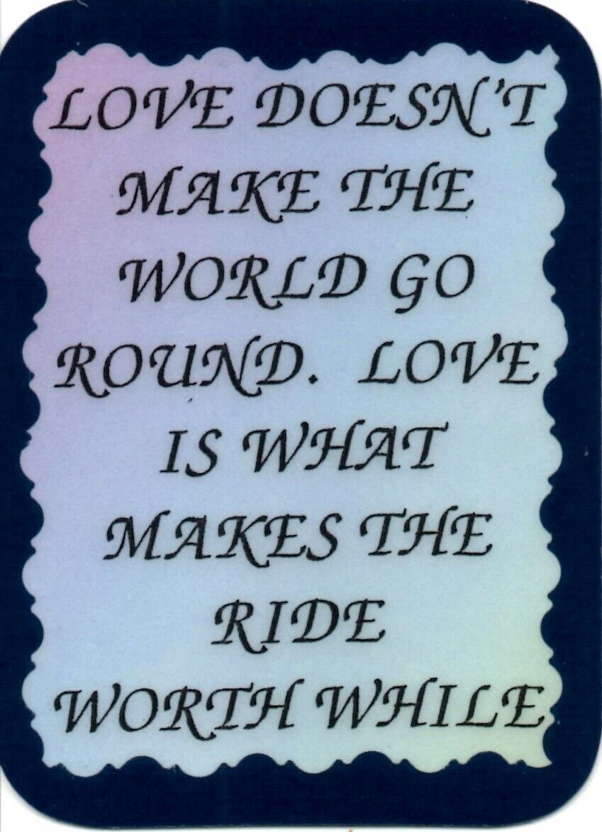 1079 Refrigerator Magnet Signs Love Doesn't Make The World Go Round Inspiration