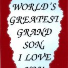2051 Refrigerator Magnet Signs World's Greatest Grandson I Love You Family Gifts