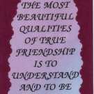 2066 Refrigerator Magnet Signs One Of The Most Beautiful Qualities Friendship