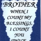 2104 Refrigerator Magnet Signs Brother When I Count My Blessings I Count You